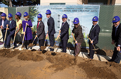The Groundbreaking at the new LCA building